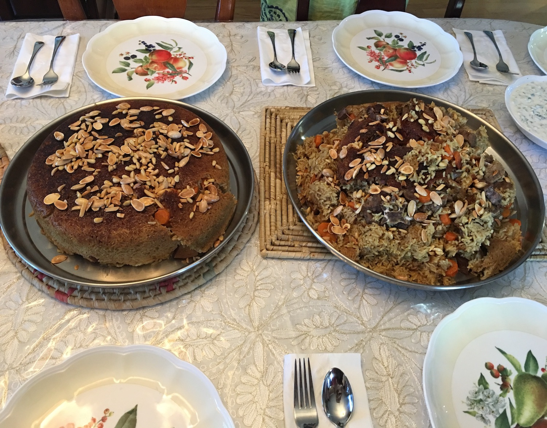 Basema's double makloubeh feast