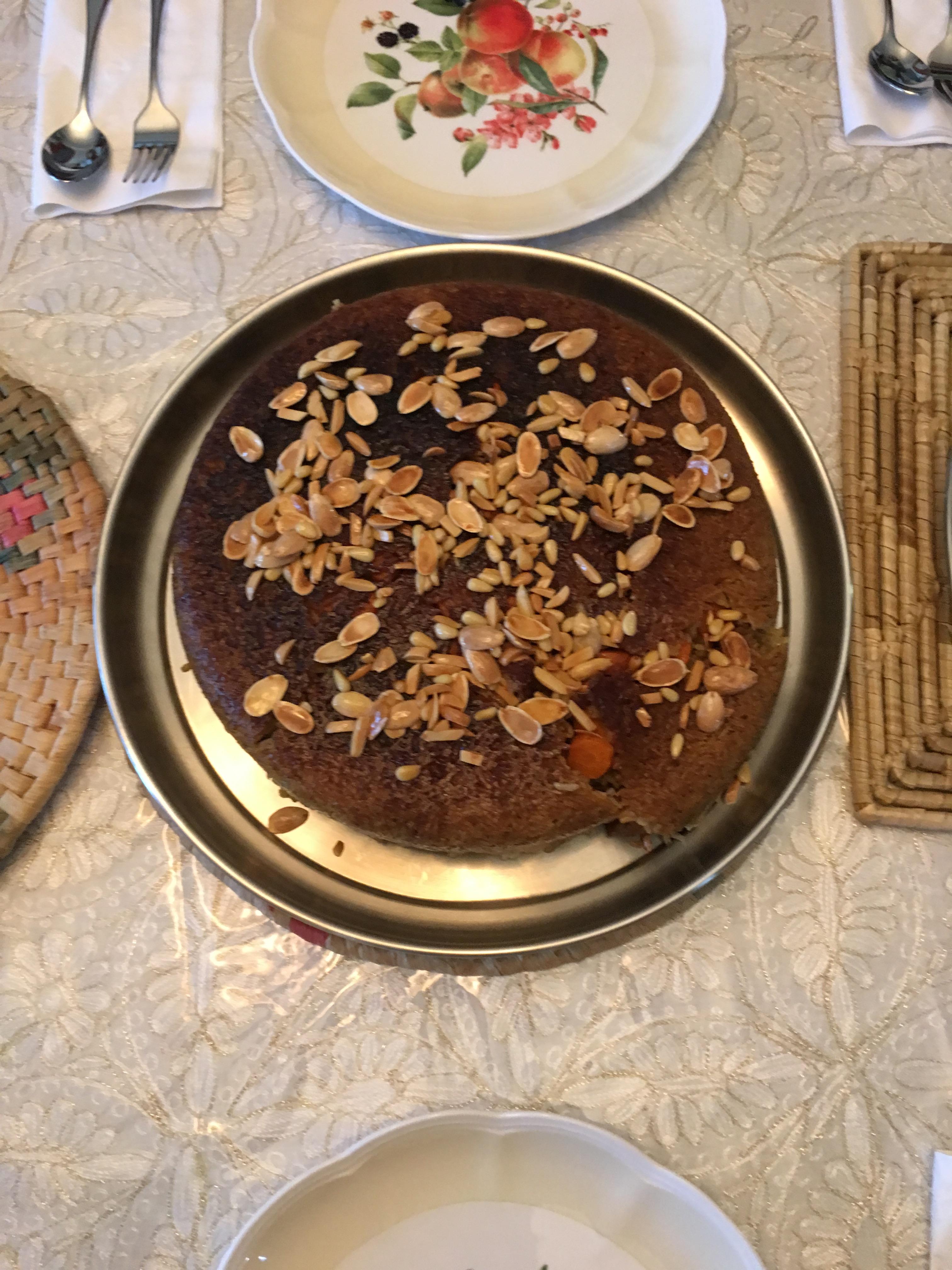 Basema's eggplant makloubeh