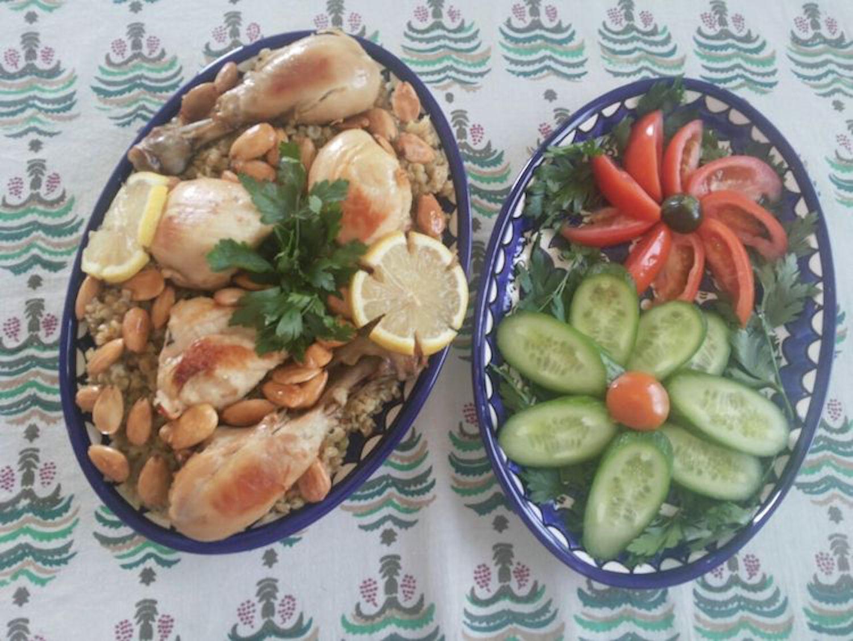 Estela's freikeh learned from khalto Yusra