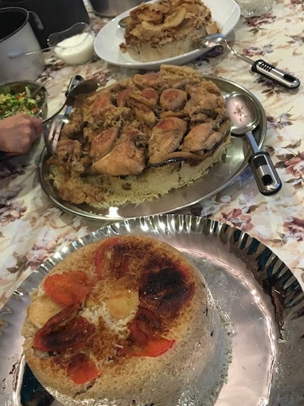 Makloubeh cook off feast