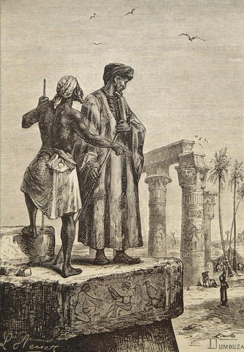 Handmade_oil_painting_reproduction_of_Ibn_Battuta_in_Egypt_a_painting_by_Hippolyte_Leon_Benett.-1