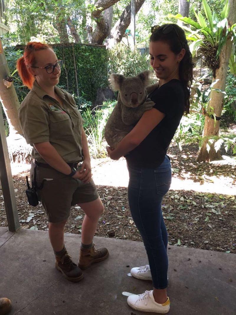 We hugged a Koala - awww