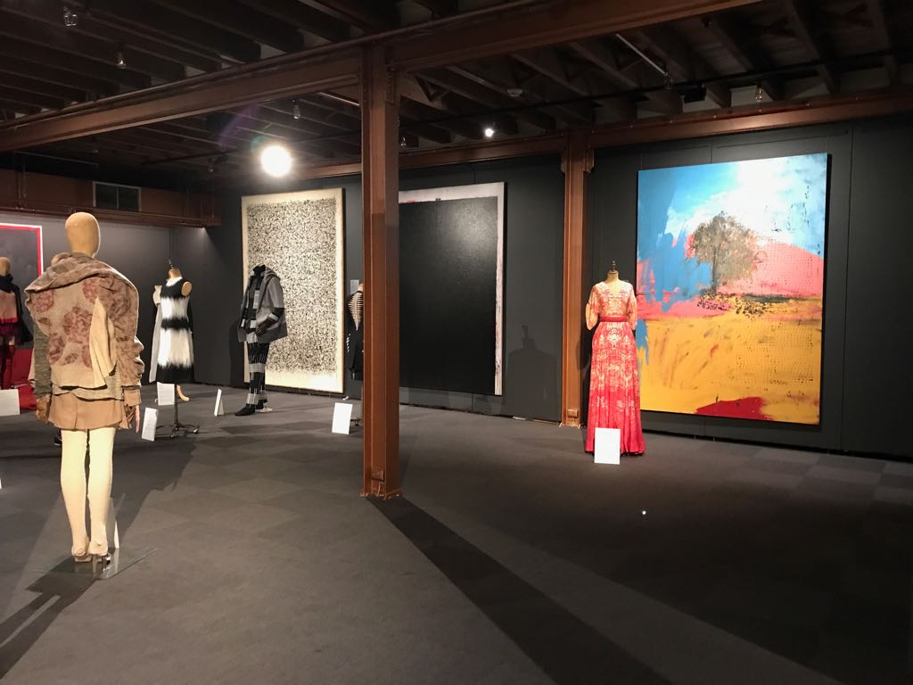 An exhibit that brought together fashion art and wool!