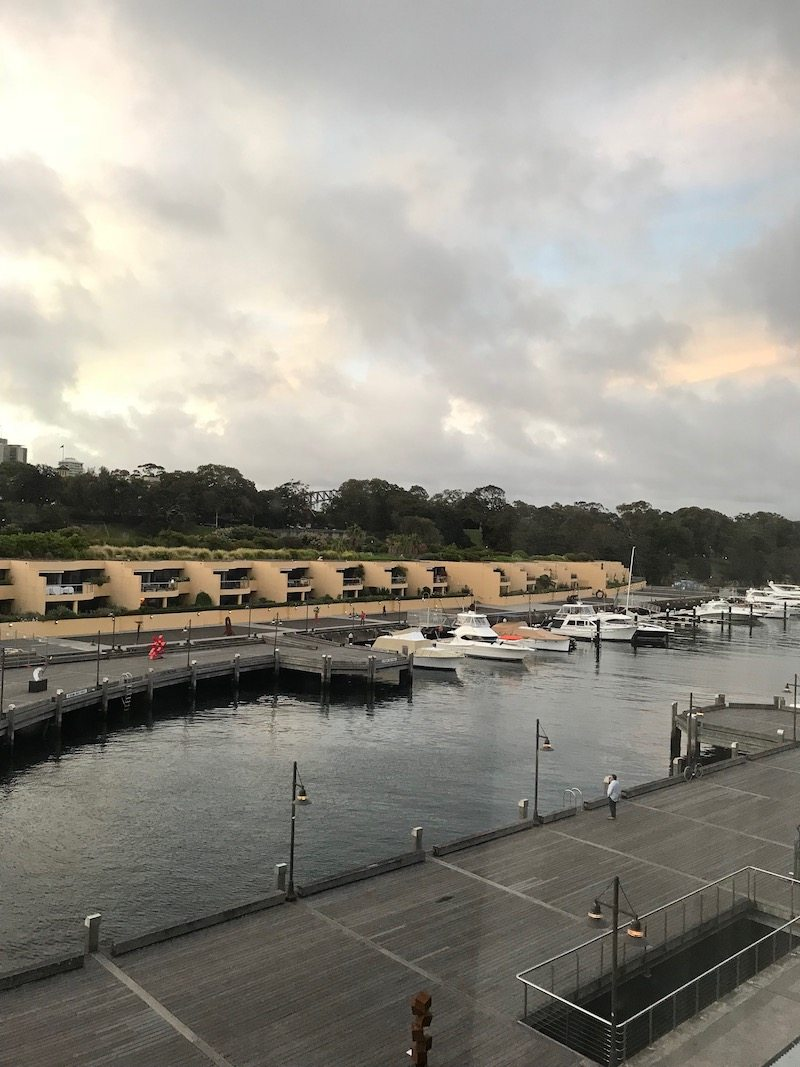 The view from our Sydney hotel