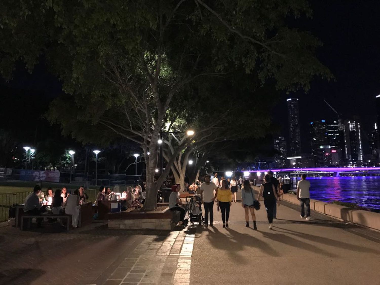 I loved my night walks on the river in Brisbane