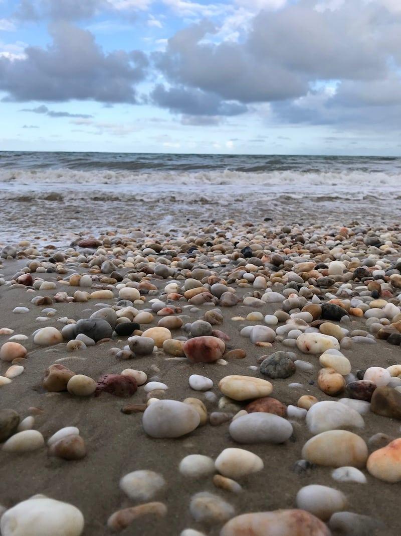 A gorgeous pebble beach