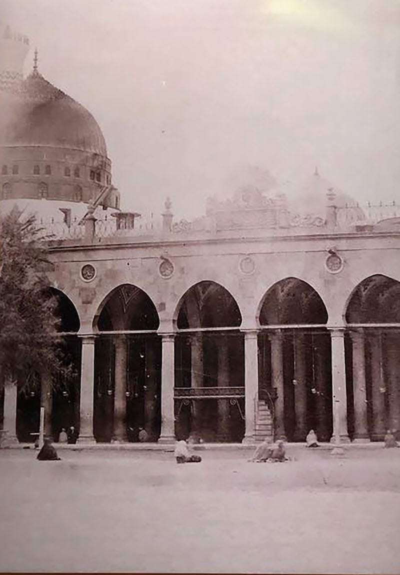 Northern wall of The Prophet's Mosque from Al-Rawda Side