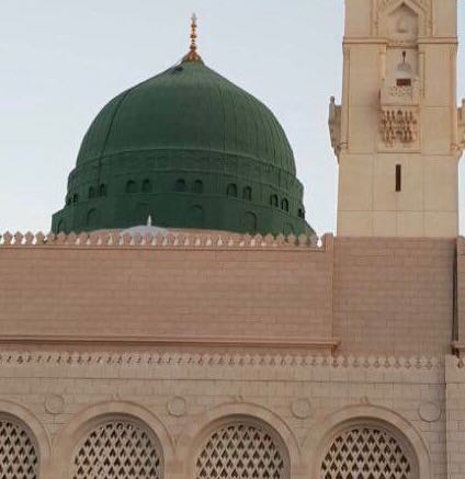 The Prophet's ﷺ tomb is under the green dome