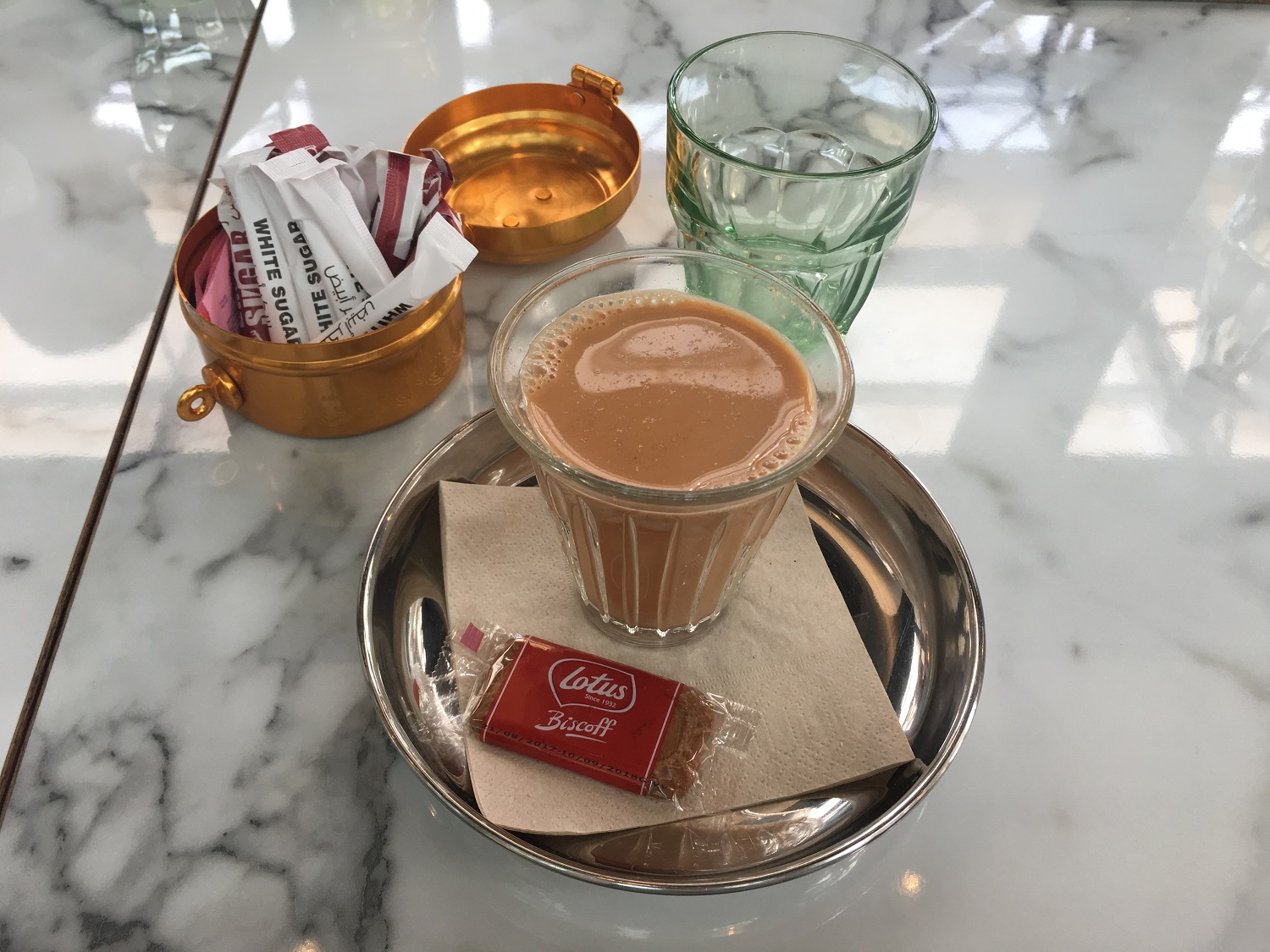 The Karak chai at the end completes my happiness