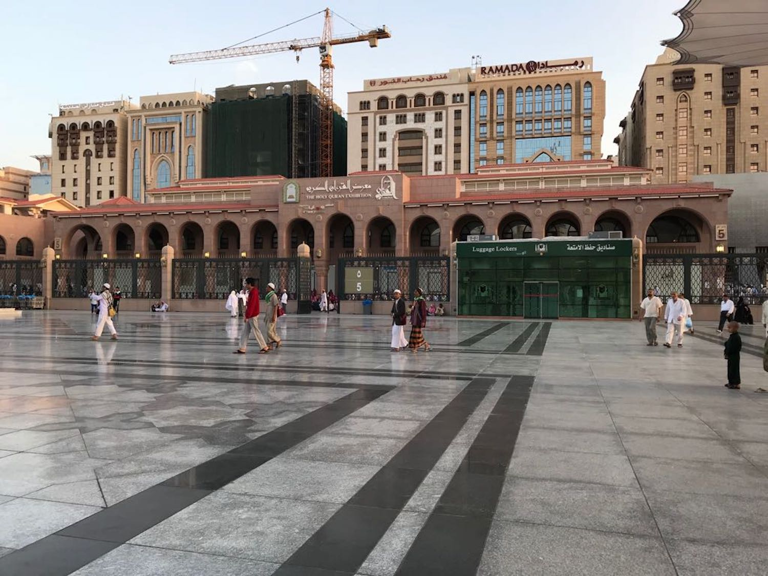 Very close to Gate 7 of The Prophet's Mosque