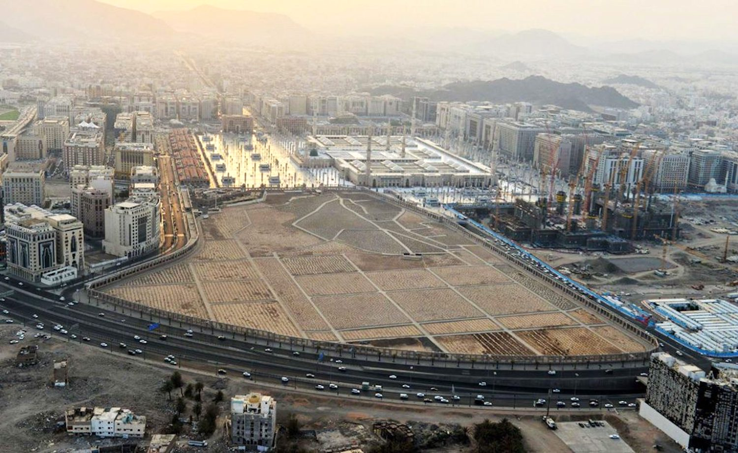 An aerial view of the whole of Al-Baqi