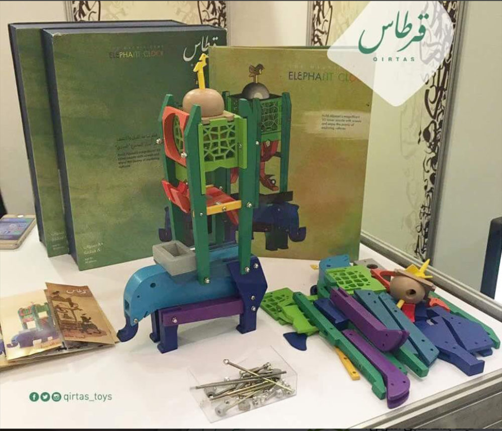 The 3-D puzzle of the elephant clock with story