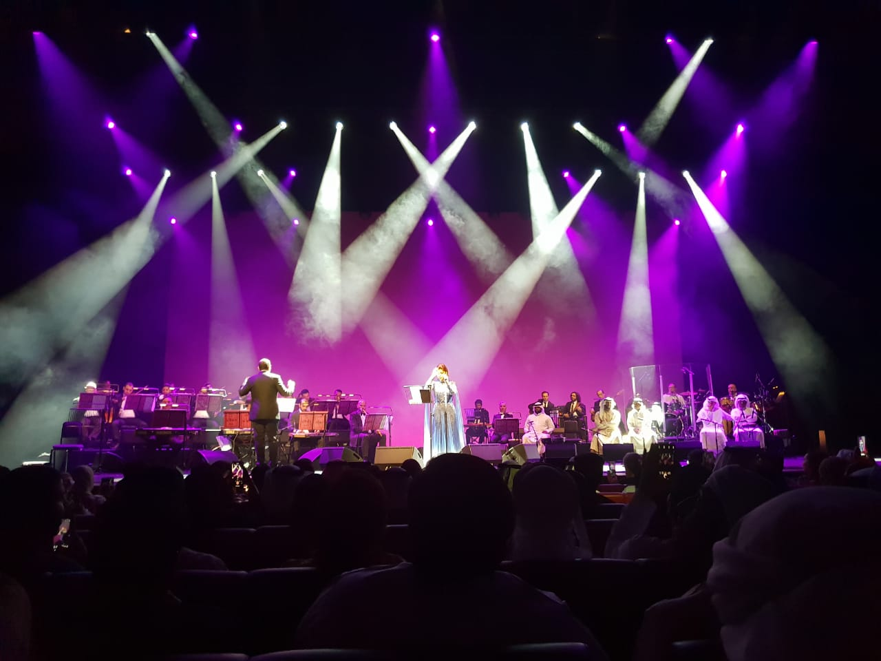 A marvelous stage between the orchestra, the lights and Assala