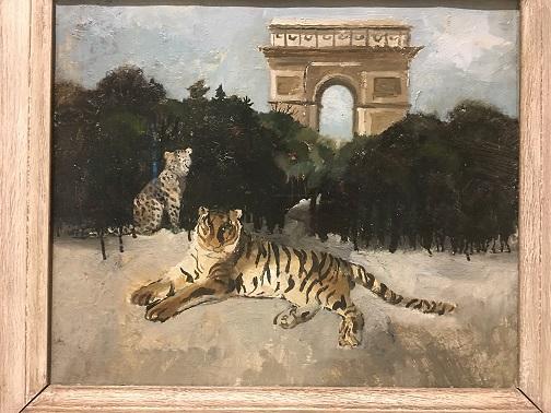 Wood Tiger and Arc de Triomphe.